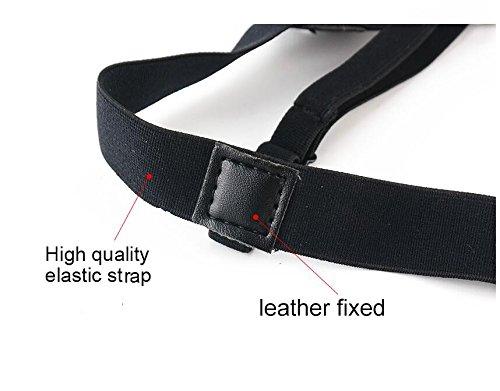 Compra Jelinda® Mens Dress Shirt Stays Leg Thigh Suspender Garters Keep Shirt Tucked in with Non-slip Locking Clamps (A metal) en Usame