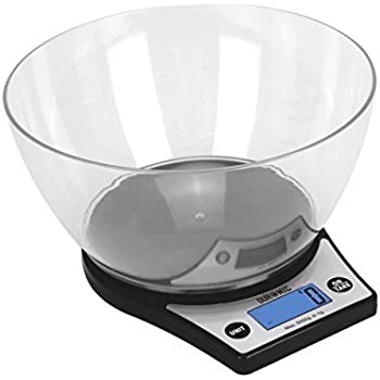 Duronic KS6000 Digital Display 5 KG / 11 LB Kitchen/Postal Scales with a Large 2 Litre Bowl and a Tare Function