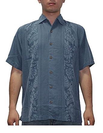 Tommy bahama mens light weight silk summer camp shirt at for Mens silk shirts amazon