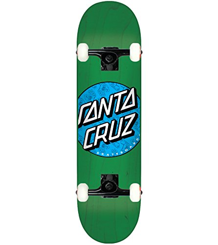 Santa Cruz Skateboard Complete Hand Fill Dot Green 7.5″ Tensor Assembled