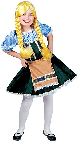 Oktoberfest Dirndl Kostümkleid für Mädchen - Blau Grün Gr. 104