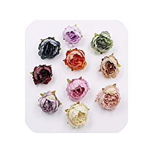 END GAME 10pcs 6cm high 4cm Peony Flower Head Artificial Flowers Wedding Decoration DIY Decorative Fake Flowers 41