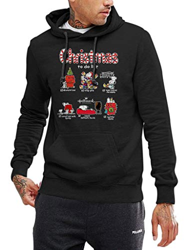Snoopy Christmas to Do List - Funny Vintage Trending Awesome Shirt for The Peanuts Fans Unisex Style by SMLBOO Hoodie (Hoodie Black, L) ()