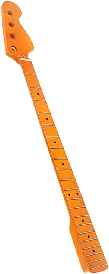 Exceart - Teclado para guitarra eléctrica, 21 teclas, teclado de madera con puntos negros para piezas de repuesto para guitarra eléctrica JB 38 mm: Amazon.es: Instrumentos musicales