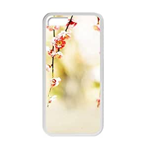 Personalized Creative Cell Phone Case For iPhone 5/5s,glam peach pink flowers bloosm