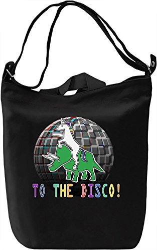 To The Disco Borsa Giornaliera Canvas Canvas Day Bag| 100% Premium Cotton Canvas| DTG Printing|