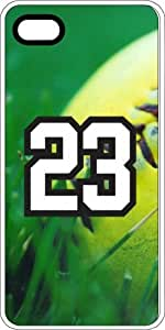 Baseball Sports Fan Player Number 23 Clear Plastic Decorative iPhone 4/4s Case