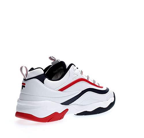Fila Man Sneakers White Navy Low Ray F 01m 1010578 qxrCq4