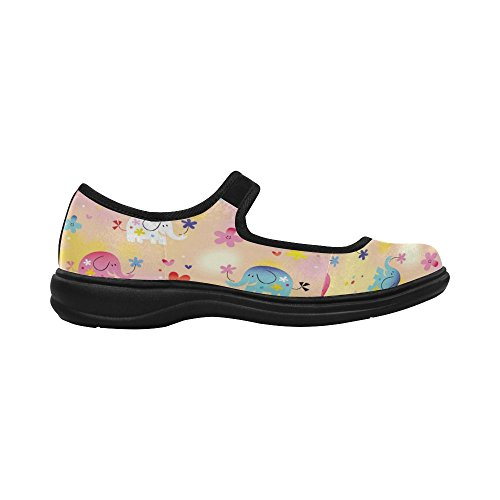 InterestPrint Womens Comfort Mary Jane Flats Casual Walking Shoes JbVewY