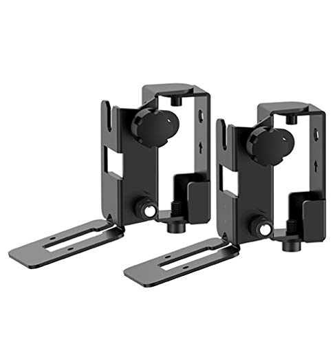 wearevr SONOS Speaker Mount Wall Bracket for SONOS Play:1 and SONOS Play:3 Tilt/Swivel Adjustable,Pair (Black)
