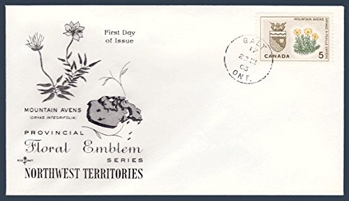 Canada First Day Cover Postage Stamp # 429 - Provincial Flowers & Coat of Arms - Northwest Territories ()