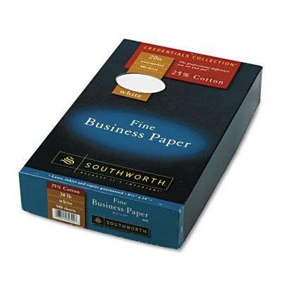 Brand New Southworth 25% Cotton Business Paper White 20 Lbs. Wove 8-1/2 X 14 Legal 500/Bx Fsc