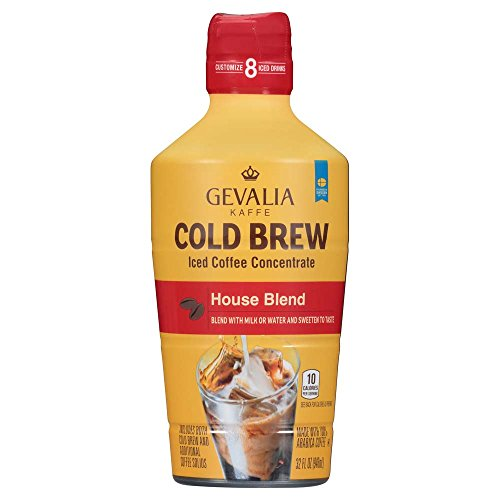 Gevalia Cold Brew House Blend Iced Coffee Concentrate, 32 oz Blend Concentrate