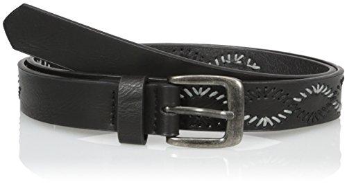 Belgo Lux Women's Jean Belt with Stitch Detail
