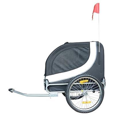 Image of Pet Supplies MDOG2 MK0001 Comfy Pet Bike Trailer, White/Black
