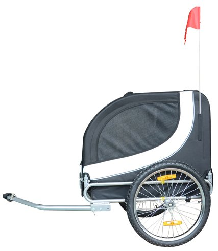 MDOG2 MK0001 Comfy Pet Bike Trailer, White/Black by MDOG2