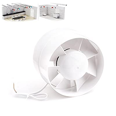 Inline Duct Booster Fan Cooling Exhaust Blower Air Cooling Vent Fan ABS