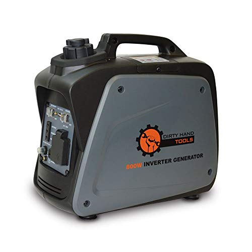 (Dirty Hand Tools 104609 800W Inverter Generator - Gas Powered, 120V Outlets x21, USB x1, DC x1)