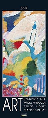 Art 2018: Korsch Kunstkalender mit bekannten Meisterwerken der verschiedenen Epochen. Wandkalender im Hochformat: 28,5 x 69 cm, Foliendeckblatt