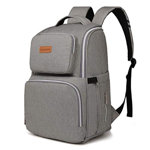 HaloVa Diaper Bag, Baby Nappy Backpack, Unisex Travel Bag, M