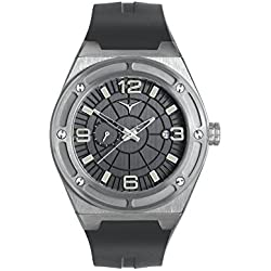ZINVO Rival GMT Men's Luxury Watch with Automatic Movement, Black Rubber Strap Stainless Steel Case