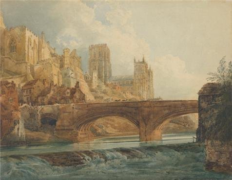 Oil Painting 'Durham Cathedral And Castle, About 1800 By Thomas (Special Blend Battery Pant)