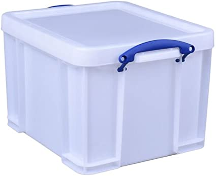 Really Useful - Caja de almacenaje (35 L), color blanco: Amazon.es ...