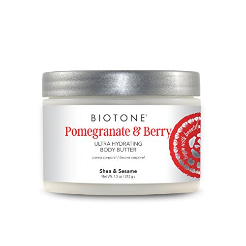 Biotone Pomegranate & Berry Ultra Hydrating Body Butter, 7.5 Ounce