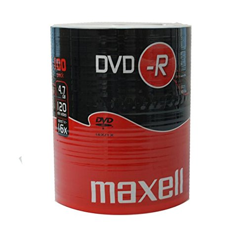 Maxell DVD-R 4,7 GB 16 x 100pcs PW White for Inkjet printer, 10103055 (White for Inkjet printer)
