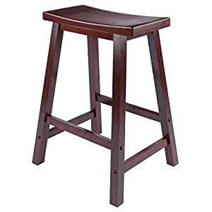 Remarkable Winsome 94084 Satori Stool 24 Walnut Ocoug Best Dining Table And Chair Ideas Images Ocougorg
