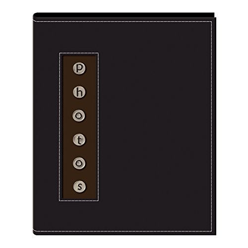 """Pioneer Metal Button """"Photo"""" Sewn Leatherette Cover Brag"""