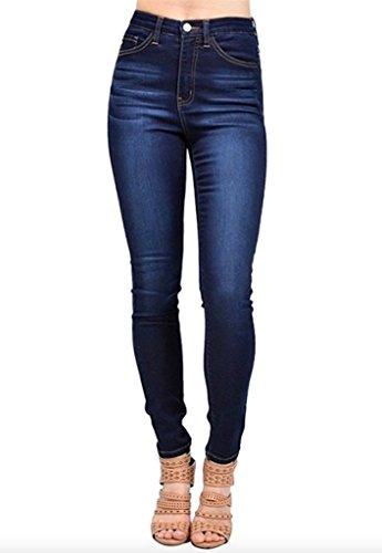 Kan Can Women's High Rise Skinny Jeans (0, Dark Wash)
