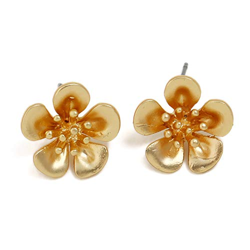 wintefei Lovely Girl Daily Makeup Women Fashion Flower Floral Stud Earrings Banquet Jewelry Party Charm Gift Golden -