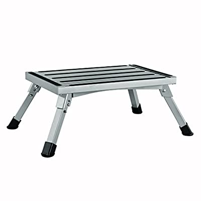 Finether Portable Rv Step Stool| Height Aluminum Folding Platform Step with Non-Slip Rubber Feet, EN 131 Certified, 1000Ibs Capacity