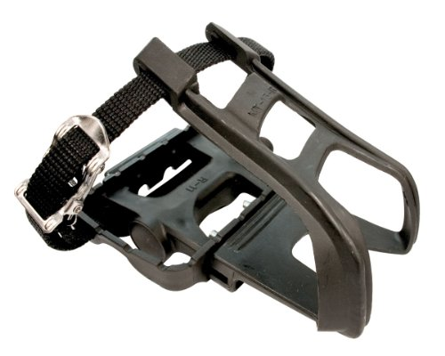 ETC Mountain Bike Resin/Alloy with Toe Clip/Strap Pedal - Black by ETC