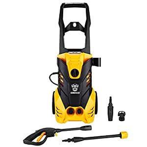 DEKO Electric Power Pressure Washer 2030 PSI 1.76 GPM with Power Hose Nozzle Gun, Integrated Hose Reel,Built in Foam Dispenser