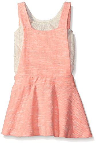 kensie Girls' Casual Dress (More Styles Available), 1331 Neon Light Coral, 4 -