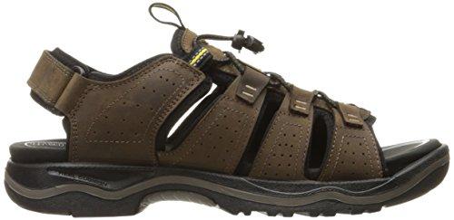 KEEN Männer Rialto offene Zehe, Sandale für das Freie Dunkle Erde / Schwarz