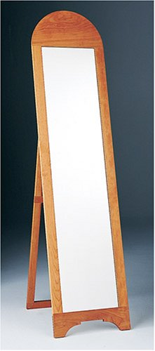 "Shaker Workshops Cherry Full-Length Floor Mirror - Made of solid Pennsylvania cherry. 1/4"" thick mirror glass, and a full backboard. Overall height is 66 1/2"". Width 16"". - mirrors-bedroom-decor, bedroom-decor, bedroom - 41Ai3%2BbZYLL -"