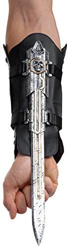 Palamon Men's Assassin's Creed Edward Hidden Blade and Cutlass Costume, Grey, One Size