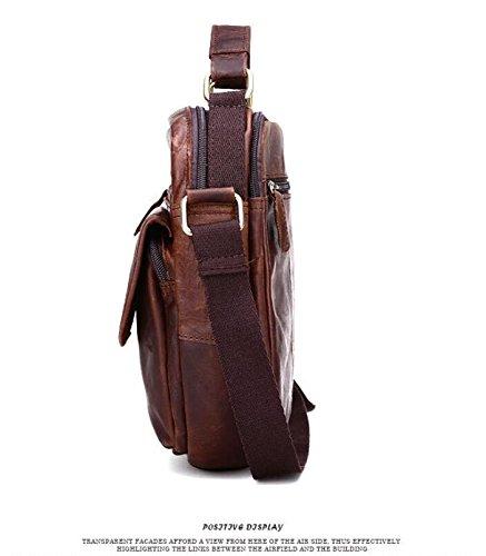 DJB/ Leder-Mann Tasche Schulter geschlungen Säckchen Retrowelle Paket