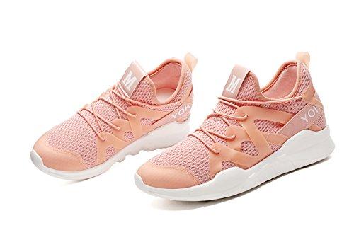 Scarpe Da Corsa Atletiche Sneakers Moda Scarpe Da Ginnastica Maglia Casual Suola Morbida Leggera Traspirante Rosa