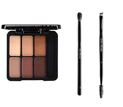 EVE PEARL Complete Eye Kit Au Natural Eyeshadow Palette Highly Pigmented Eye Shadow Palette And Brow Brush Plus Blender Brush (For Have Kit Brows Must)