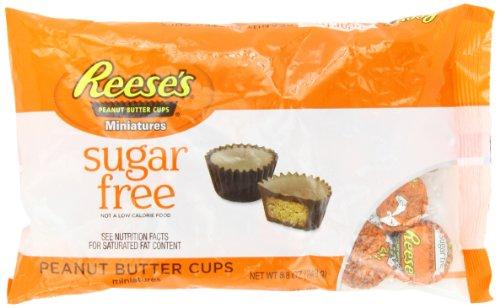 REESE'S Peanut Butter Cup Miniatures (Sugar Free, 8.8-Ounce Bags, Pack of 3)