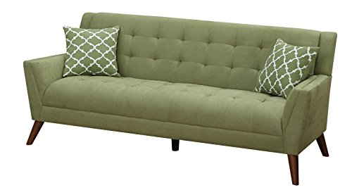 Furniture World Mid Century Sofa, Sage - Sage Sleeper Sofa