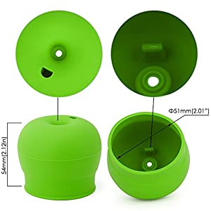 Silicone Sippy Lids Pack of 5, maxin Silicone Spout Makes Cup into Spill-Proof Sippy Cup for Babies and Toddlers FDA Approved.