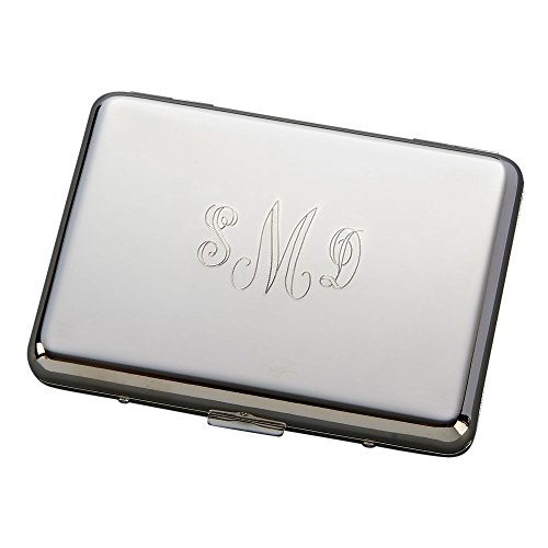 Accordian Style Card Case, Nickel Plated - Accordian Style Table