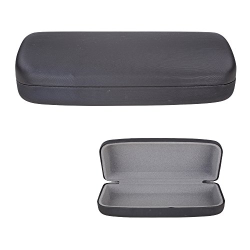 Clamshell Hard Shell Glasses Case - Durable Protective Holder for Sunglasses and Eyeglasses - Deluxe Brushed Finish with Soft Interior – Large - Classic Black – by - Durable Eyeglasses