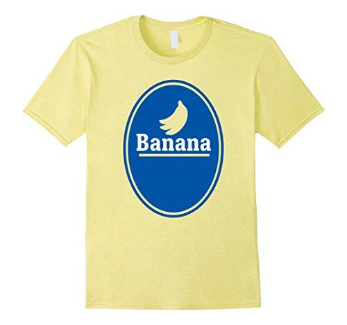 Mens Banana Halloween Costume TShirt   Funny Halloween Tee 2017 XL Lemon