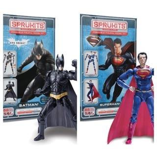 Sprukits Level 2 Batman and Superman Man of Steel Figure Model Kit (Harley Quinn Arkham City Halloween Costume)